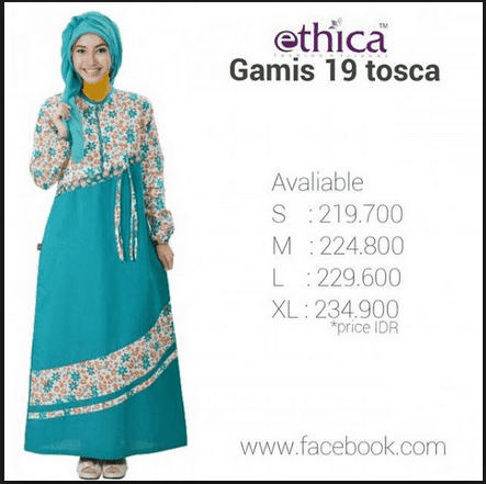 Harga Gamis Ethica Ethica Collection